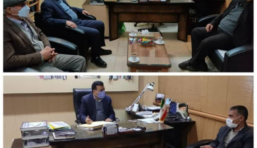 حضور رئیس و عضو هیئت مدیره اتحادیه صنف گوشت قرمز و رئیس اتحادیه صنف نانوایان اصفهان در دفتر مدیر بازرسی و نظارت اصناف استان